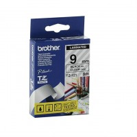 Brother 9mm Tape Black/clear (PT300/340)